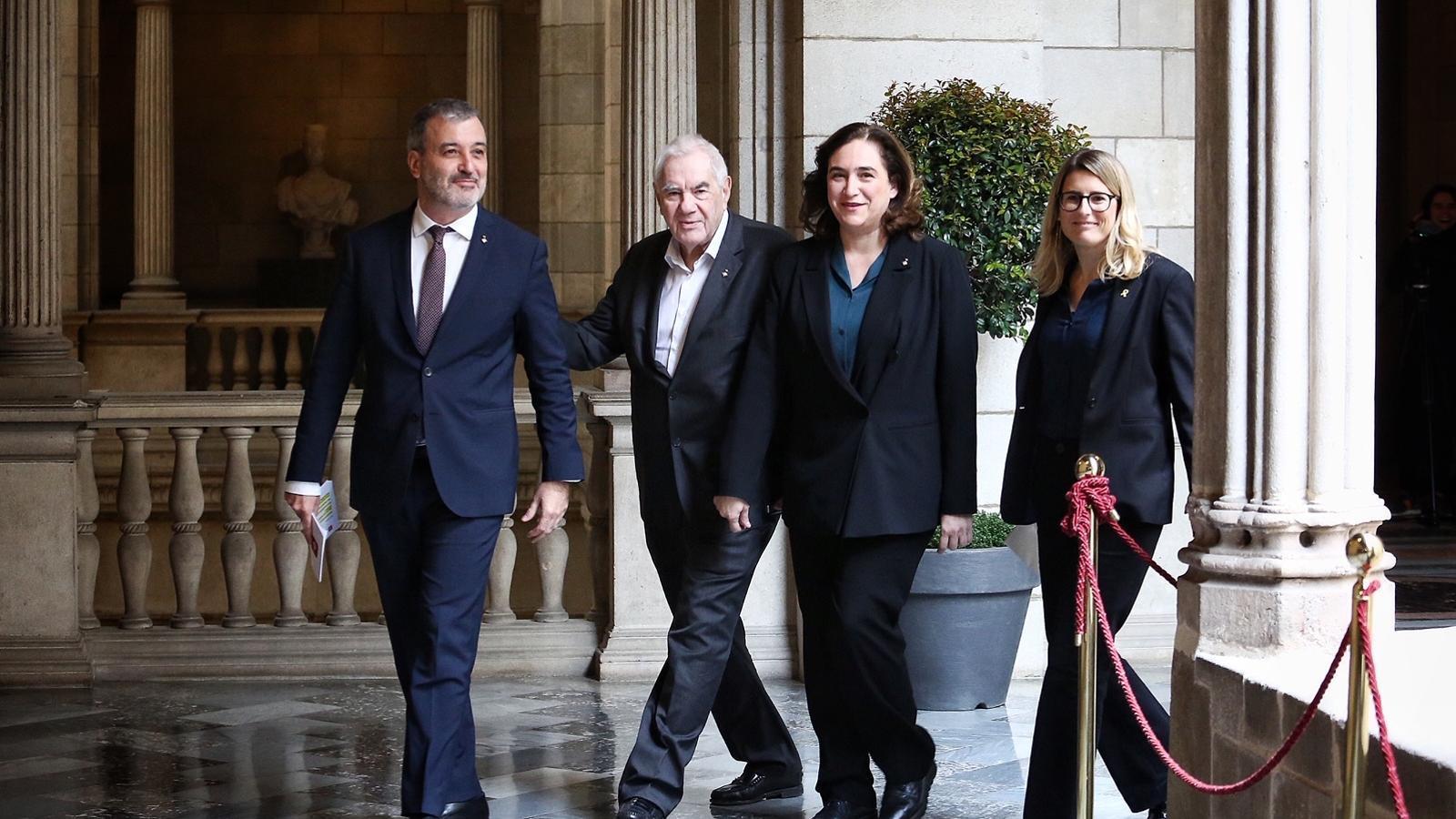 Colau tanca l'acord de pressupostos amb ERC i Junts per Catalunya