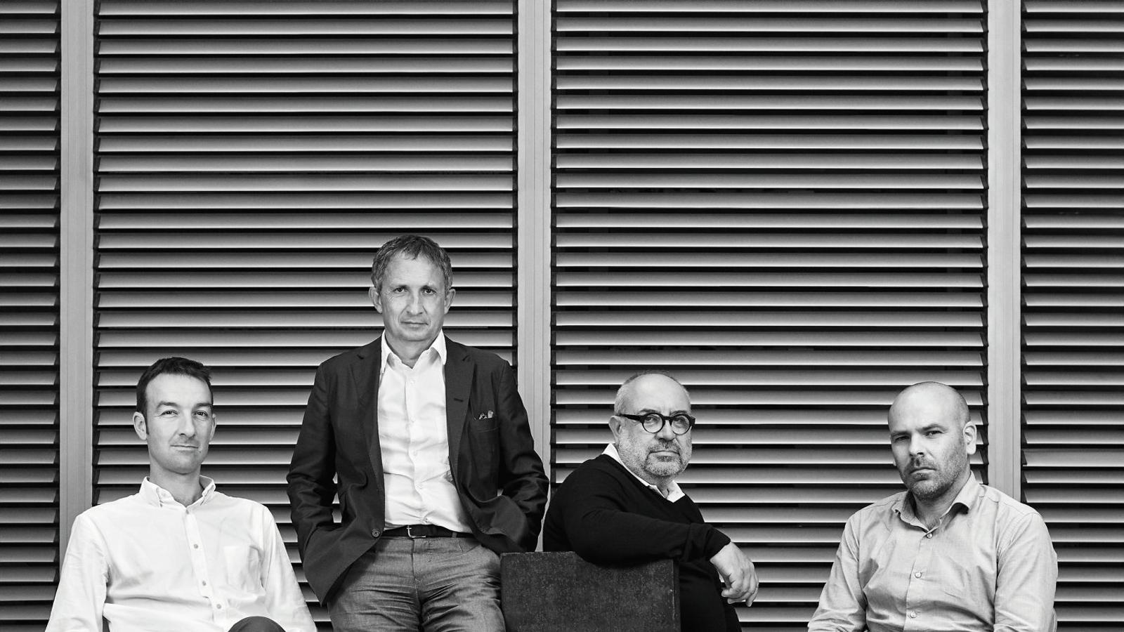 Els arquitectes Albert Gil, Enric Batlle, Joan Roig i Iván Sánchez.