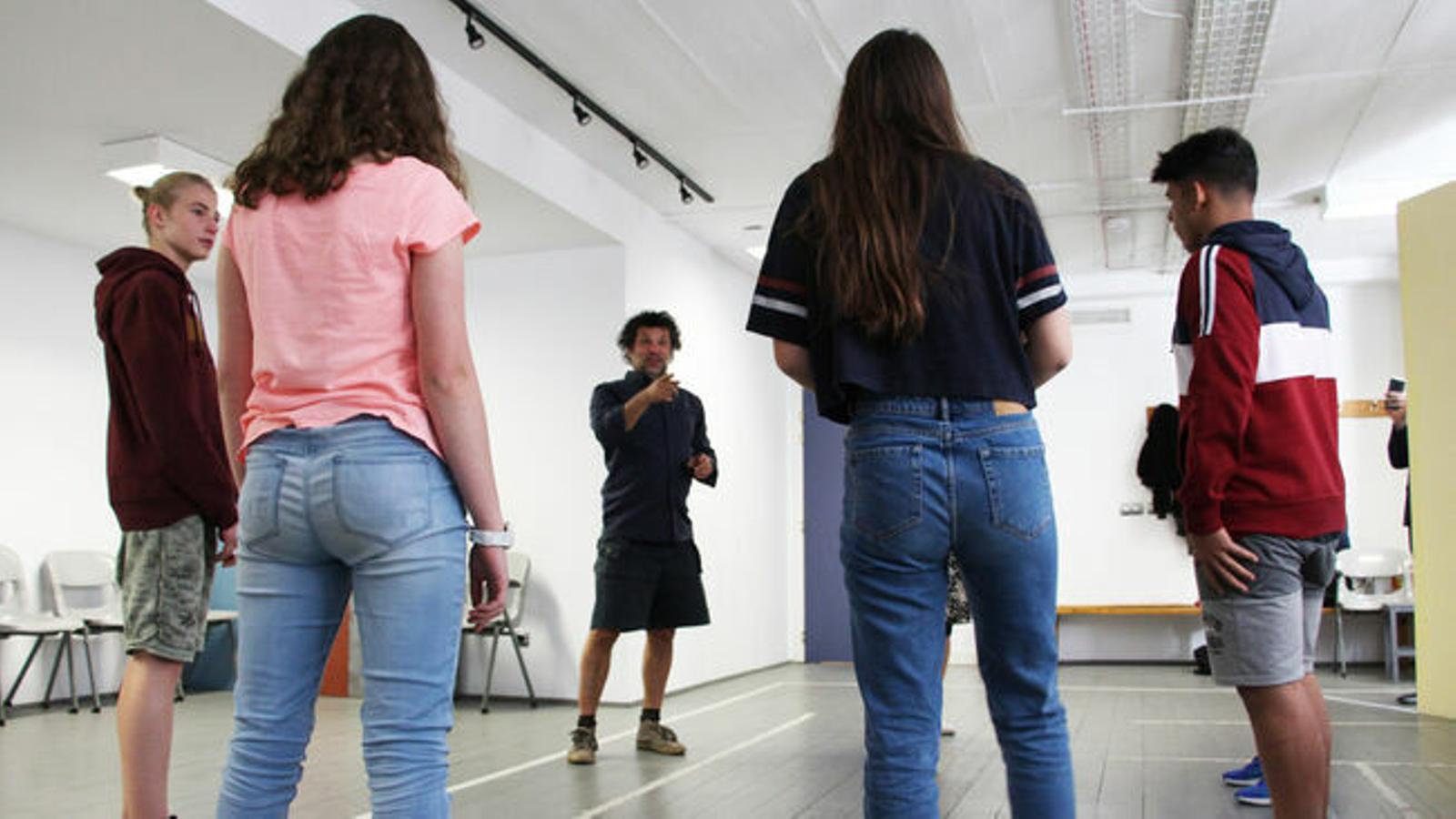 Un assaig al Centre cultural la Llacuna. / ARXIU