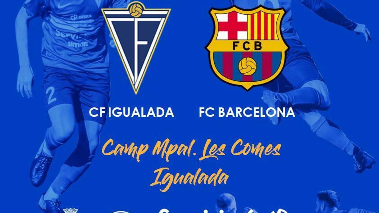 Imatge promocional del partit benèfic entre l'Igualada i el Barça