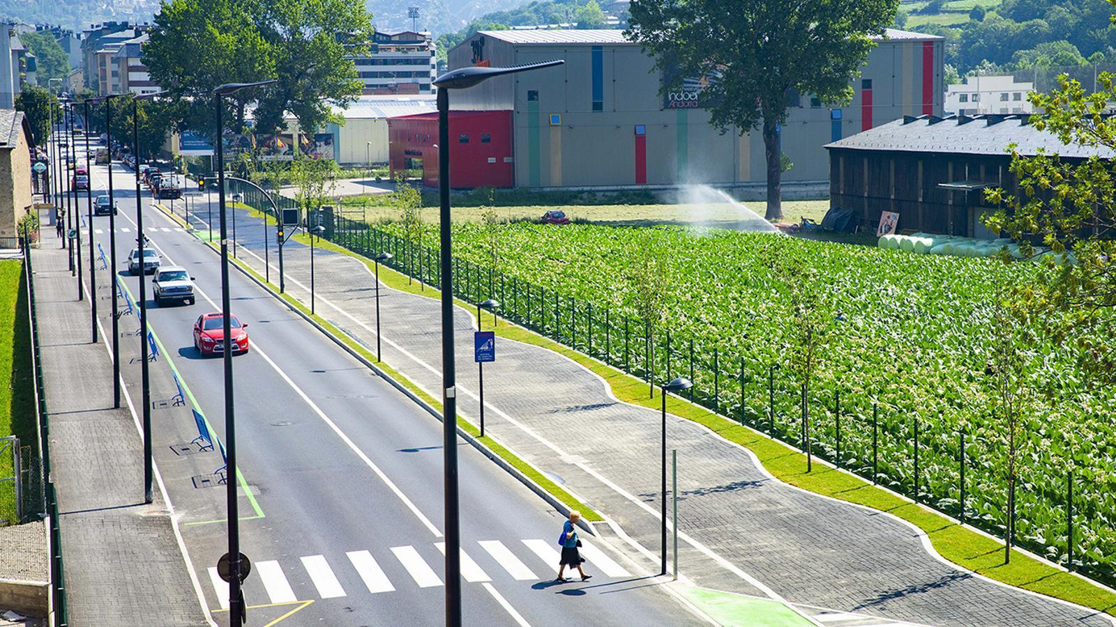 Una imatge de l'avinguda d'Enclar, ja finalitzada. / COMÚ D'ANDORRA LA VELLA
