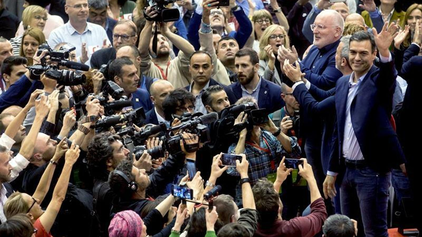 Pedro Sánchez, en el míting del PSC a la Vall d'Hebron