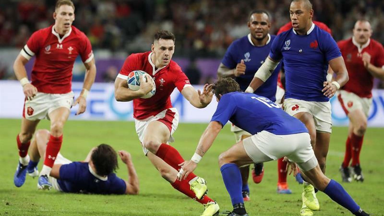 Gal·les supera França per un punt i jugarà la semifinal del Mundial de rugbi (20-19)