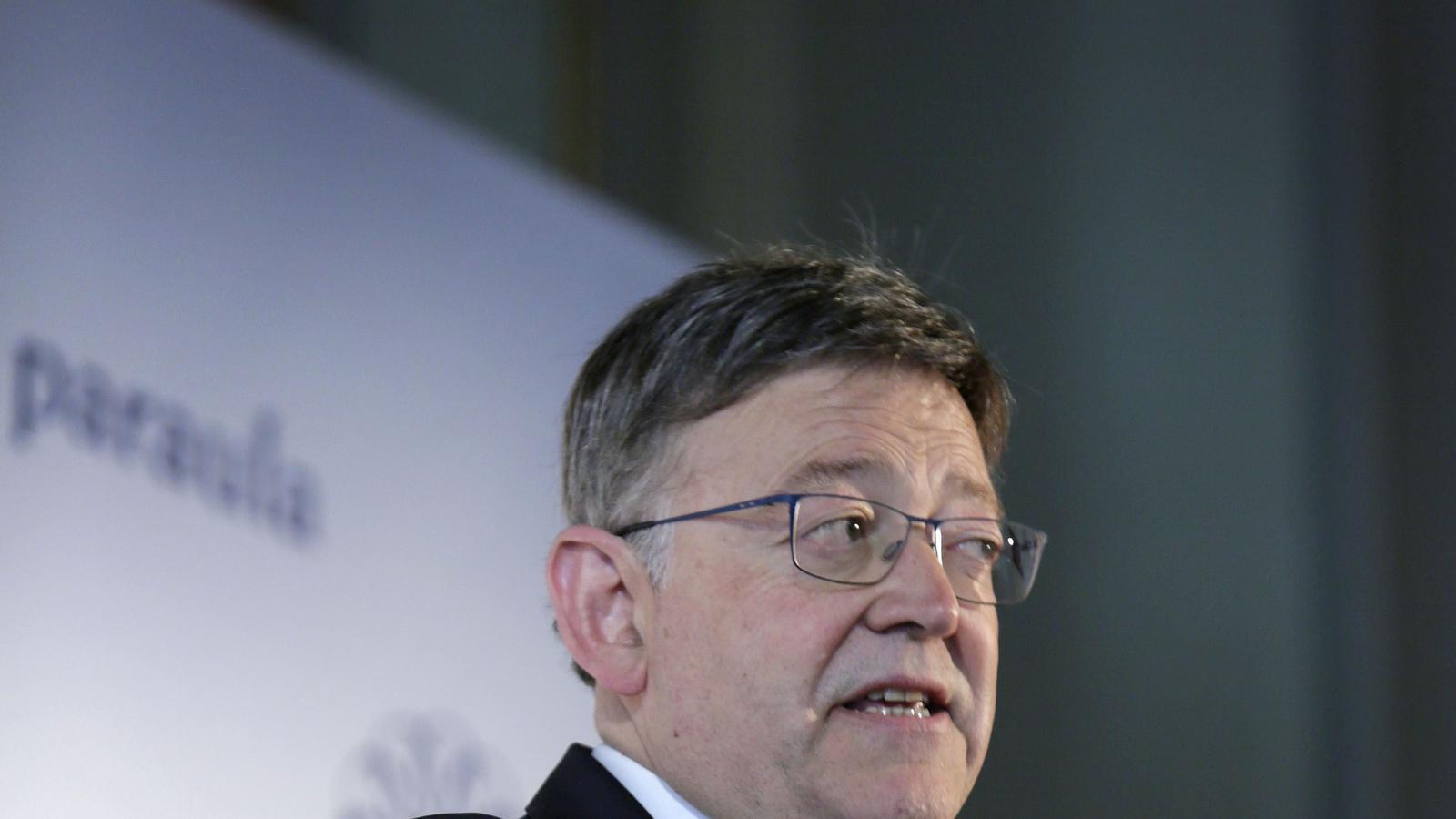 El president de la Generalitat Valenciana, Ximo Puig, creu que el govern espanyol defensa la desigualtat mantenint l'actual sistema de finançament.