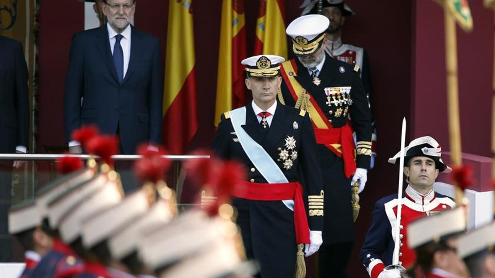 Imagen del desfile militar del Día de la Hispanidad / EFE