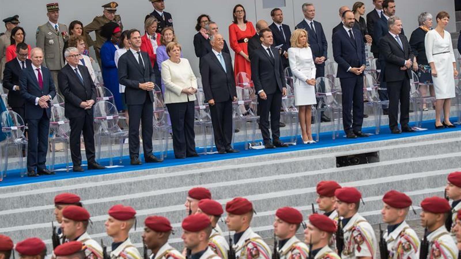 Macron fa del 14 de Juliol una exhibició d'unitat militar europea