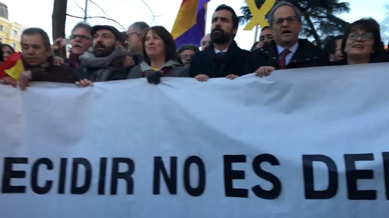 Manifestació unitària de l'independentisme al Suprem