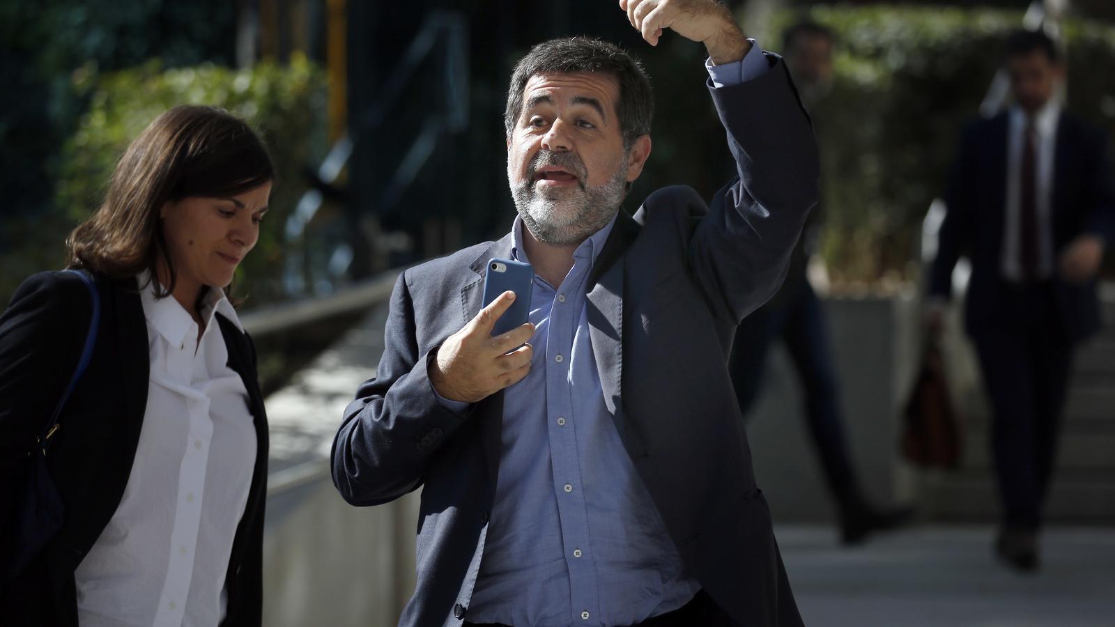 La roda de premsa de Jordi Sànchez des de Soto del Real, en directe