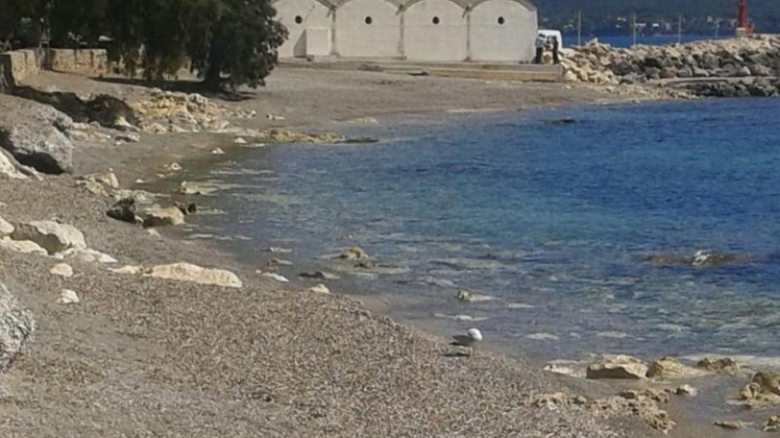 Els darrers temporals van deixar despullades les platgetes de Cala Bona.