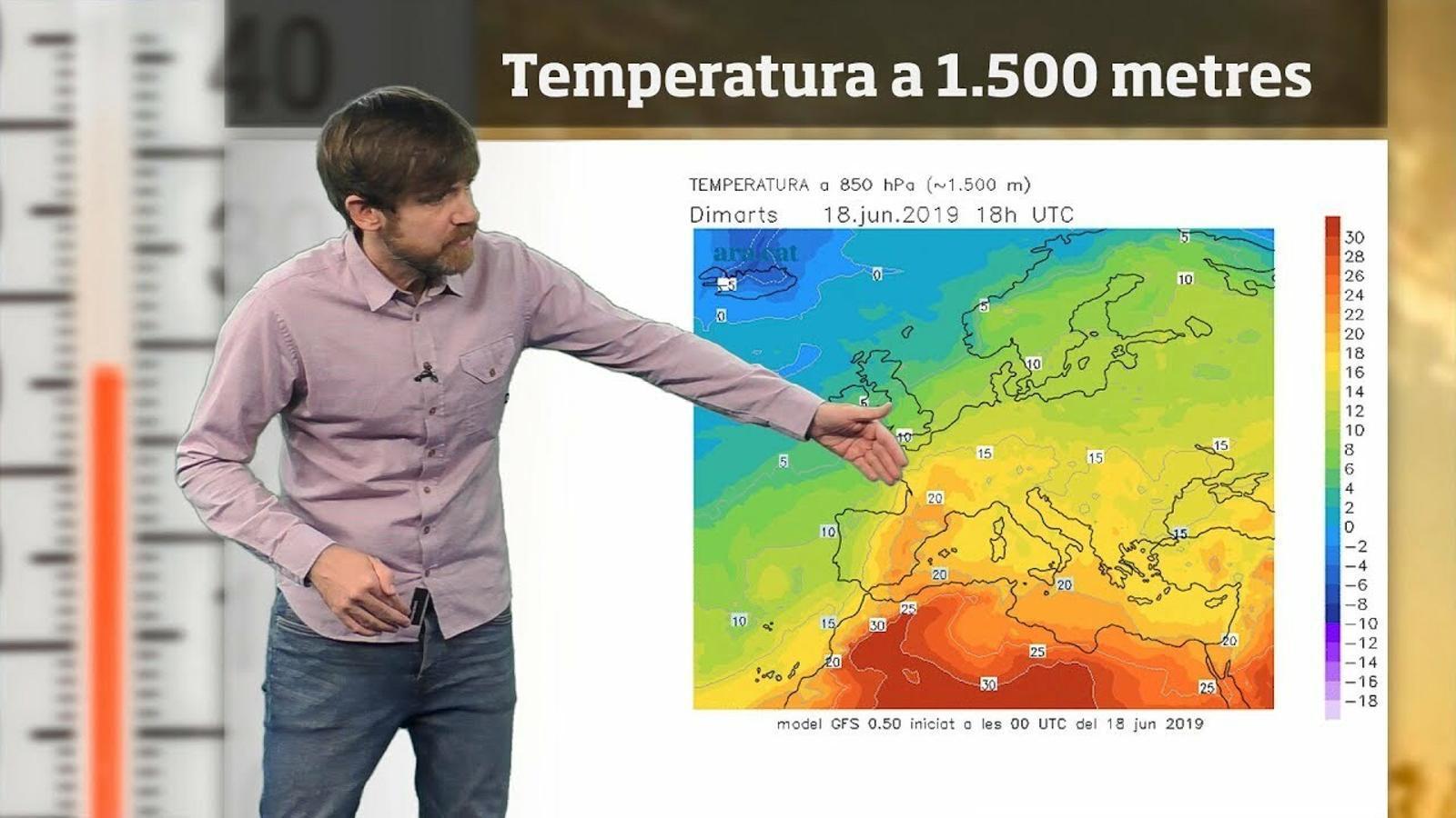 La méteo en 1 minut: calor intensa en petites dosis