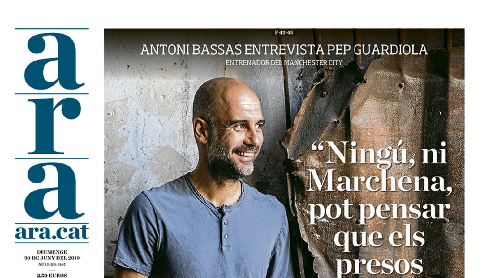 """Pep Guardiola: """"Ningú, ni Marchena, pot pensar que els presos mereixen passar tantss anys a la presó"""""""