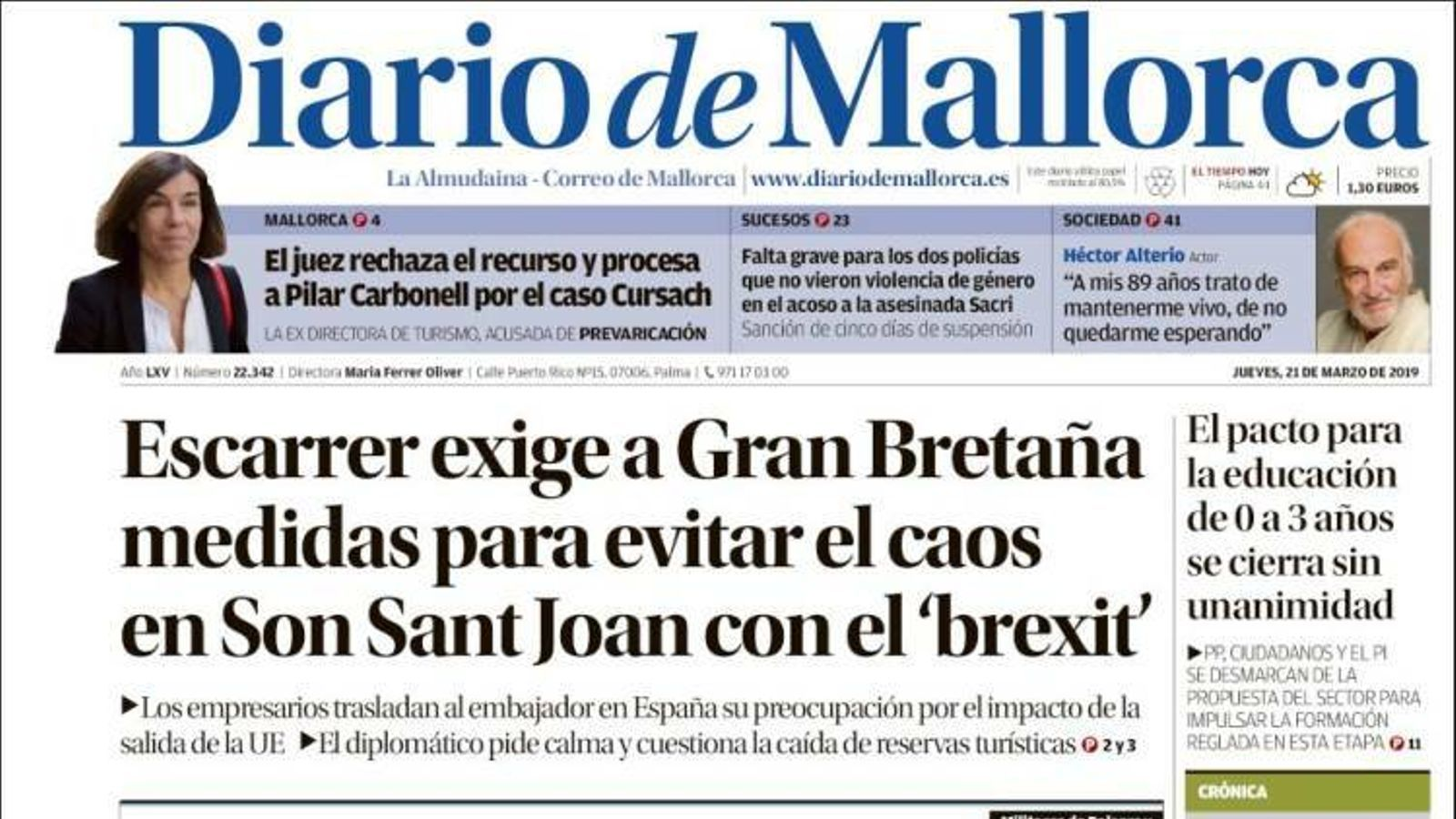 """""""Torra es burla de l'Estat i de l'independentisme"""", portada de l''Abc'"""
