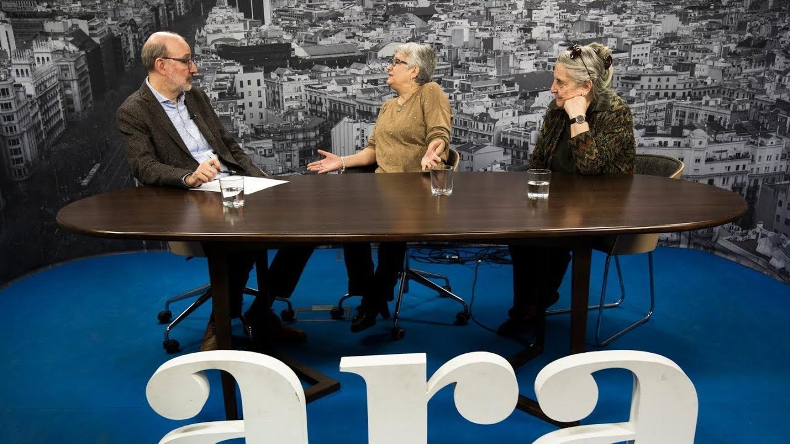 Entrevista d'Antoni Bassas a Montserrat Boix i Maria Rosa Lunas