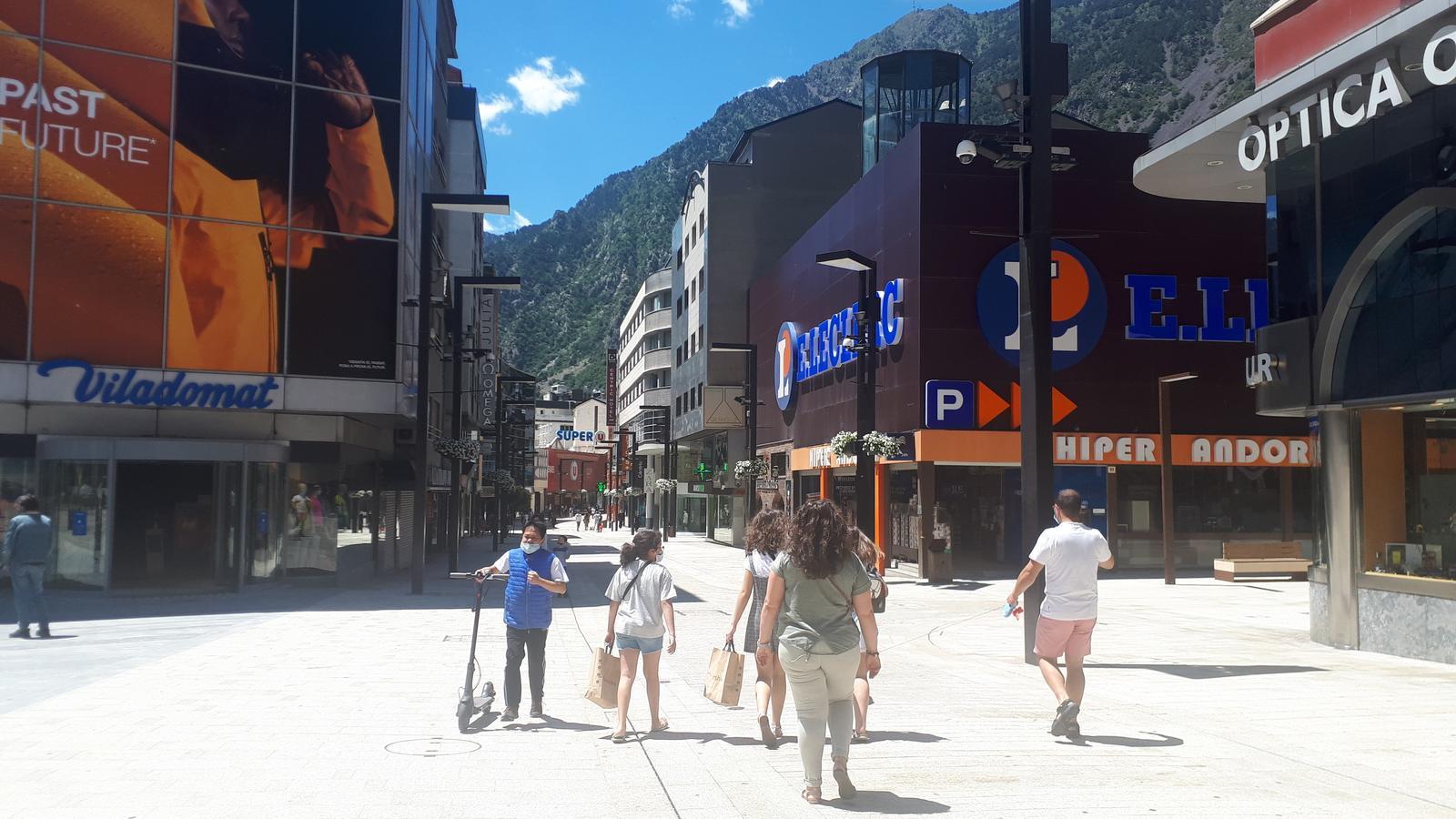 Andorra la Vella, aquest diumenge al matí. / ARA ANDORRA