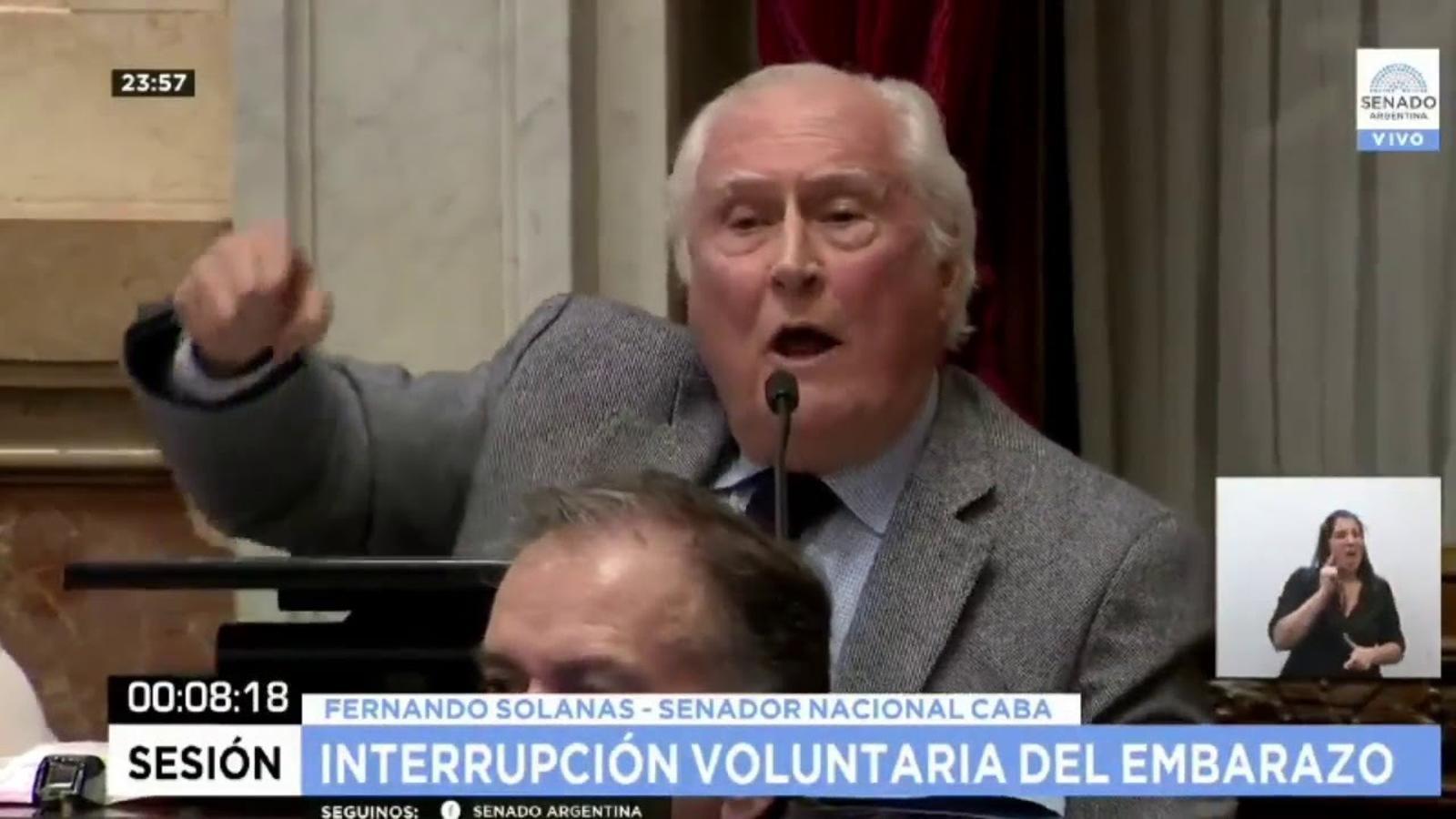Discurs de Pino Solanas sobre la llei  que rebutja legalitzar l'avortament a l'Argentina