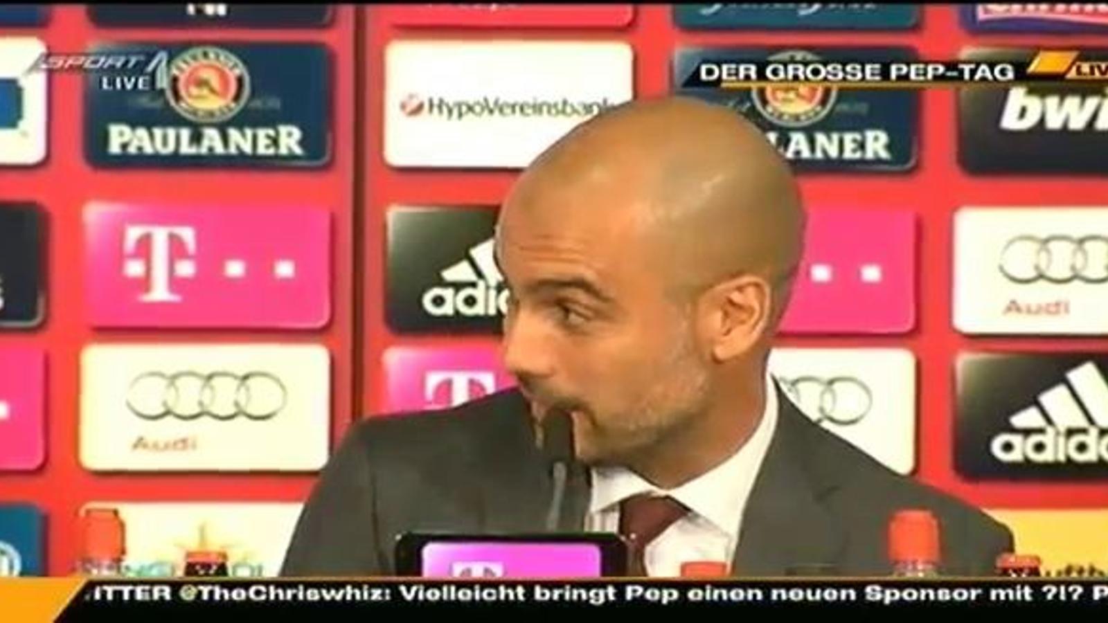 Guardiola, parlant en alemany
