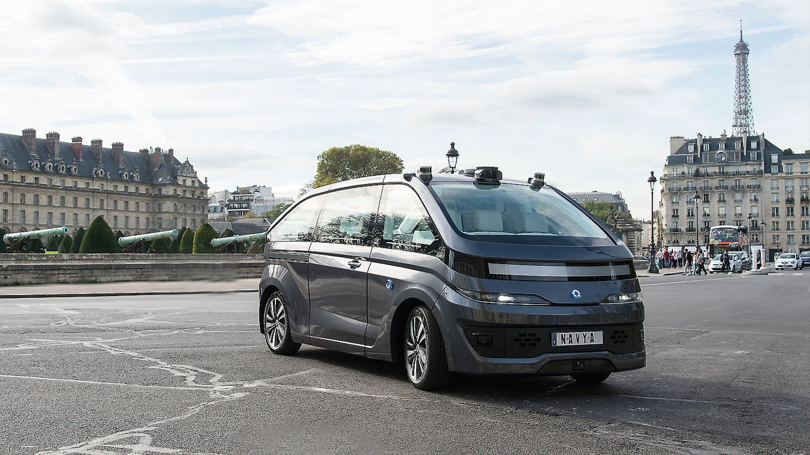 El taxi sense conductor dissenyat per l'empresa Navya.