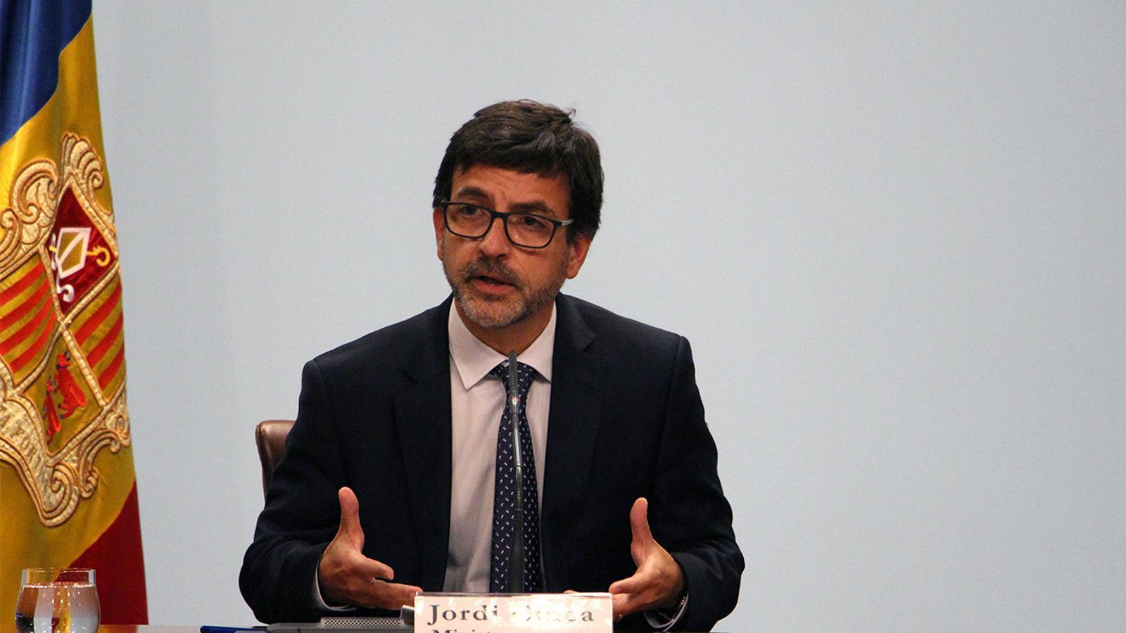 El ministre portaveu, Jordi Cinca, durant la roda de premsa posterior al consell de ministres. M. M. (ANA)