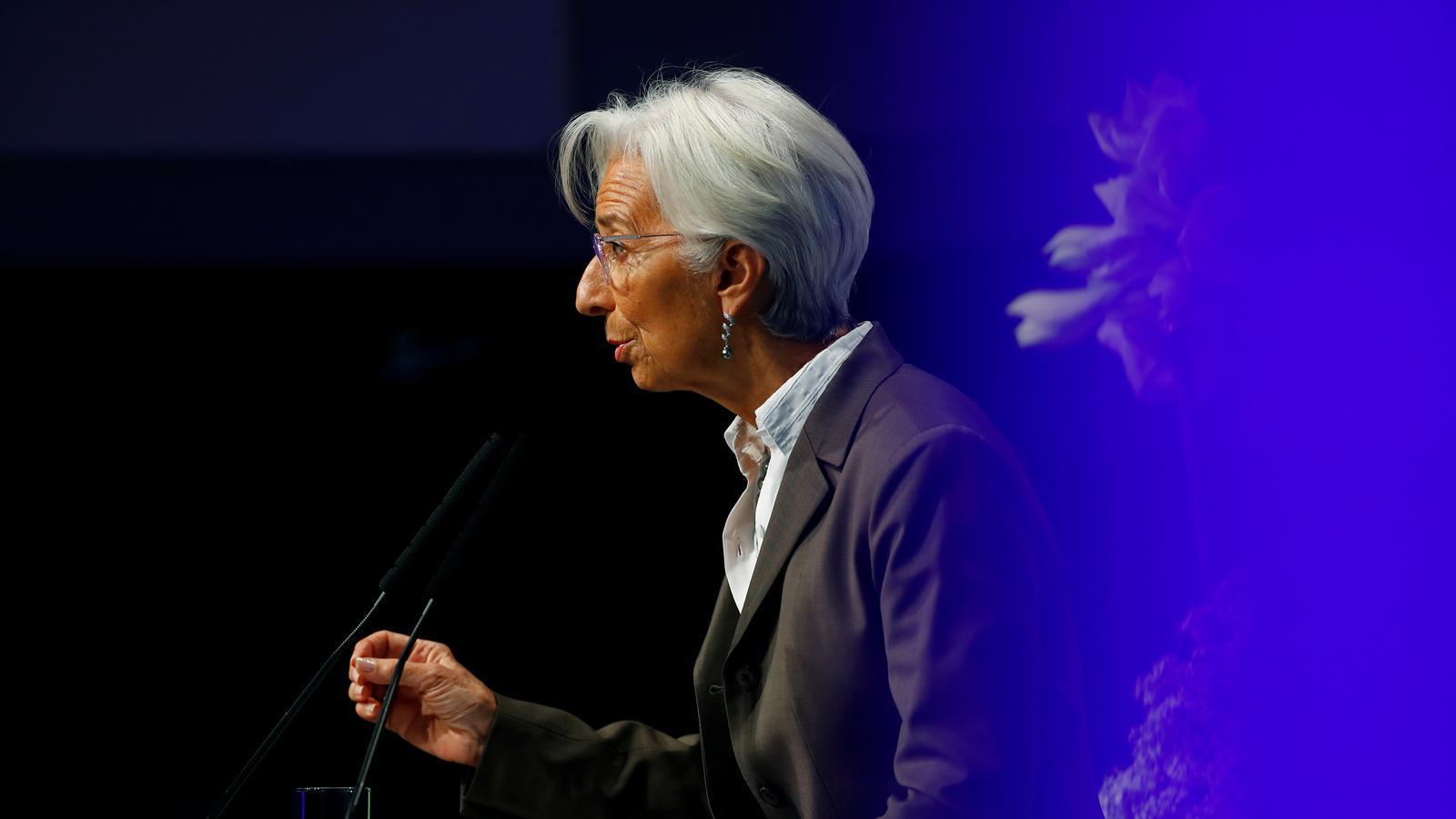 Christine Lagarde al Congrés Europeu de Banquers, celebrat a Frankfurt (Alemanya)