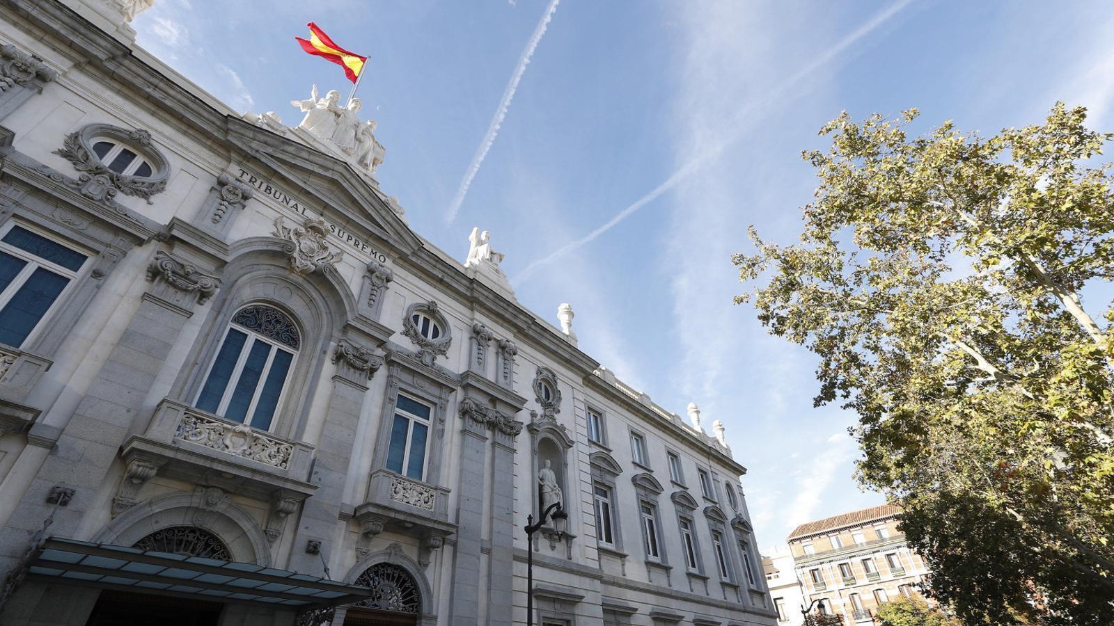 Façana del Tribunal Suprem, a Madrid, on es farà el judici de l'1-O.