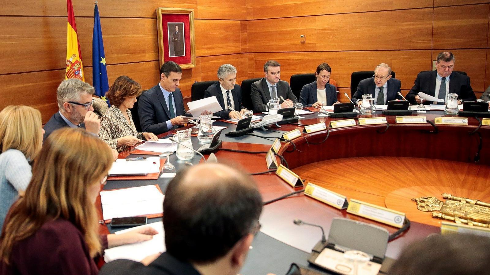 Sánchez presideix la reunió del comitè de coordinació sobre Catalunya en la jornada de reflexió pels actes del Tsunami
