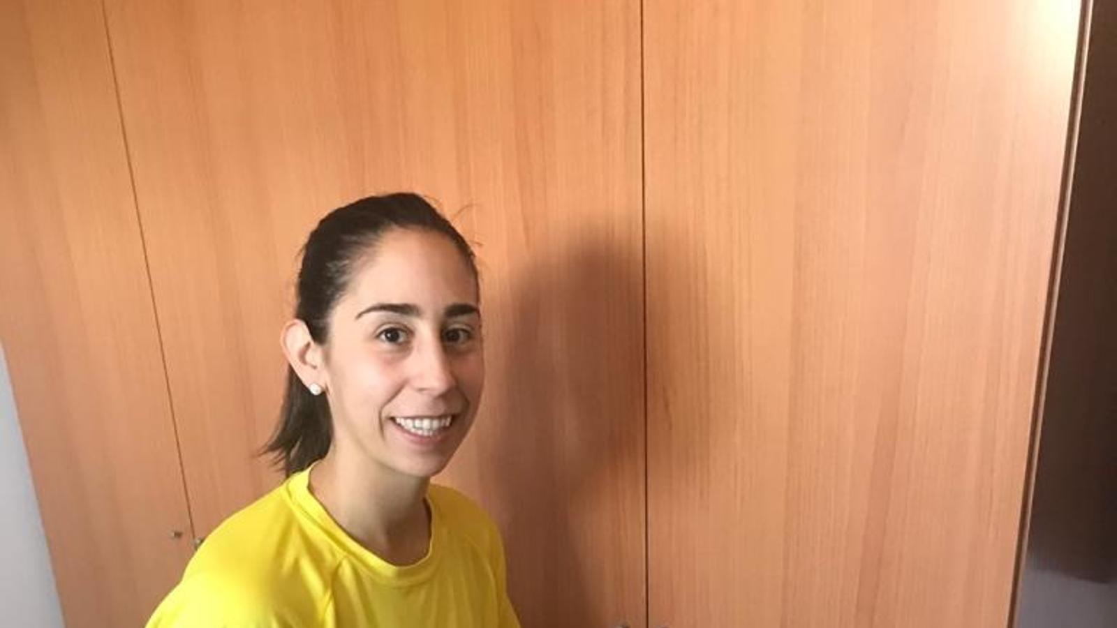 Georgina Bahí, exercitant-se a casa