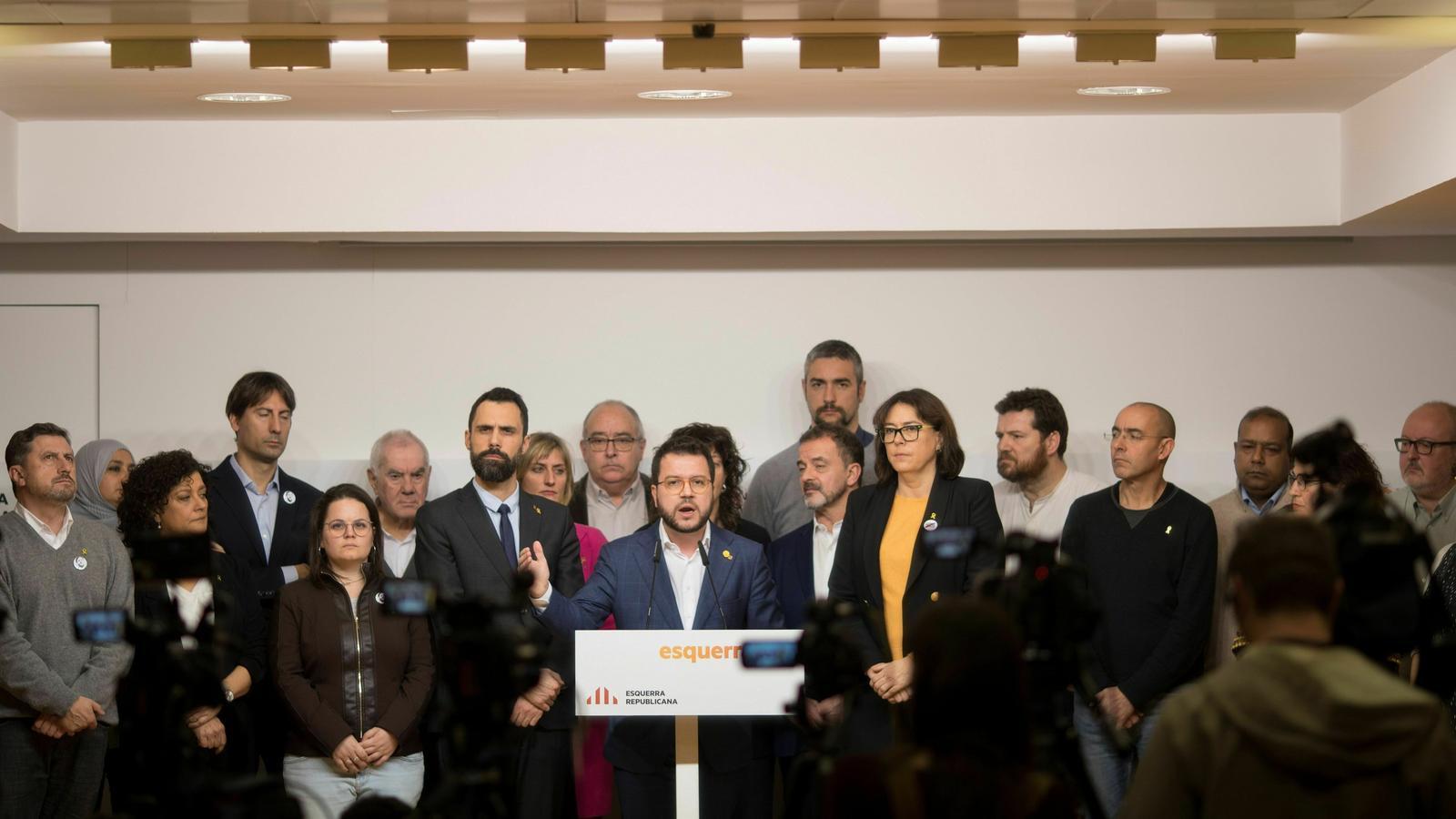 Roda de premsa d'ERC la passada setmana a Barcelona