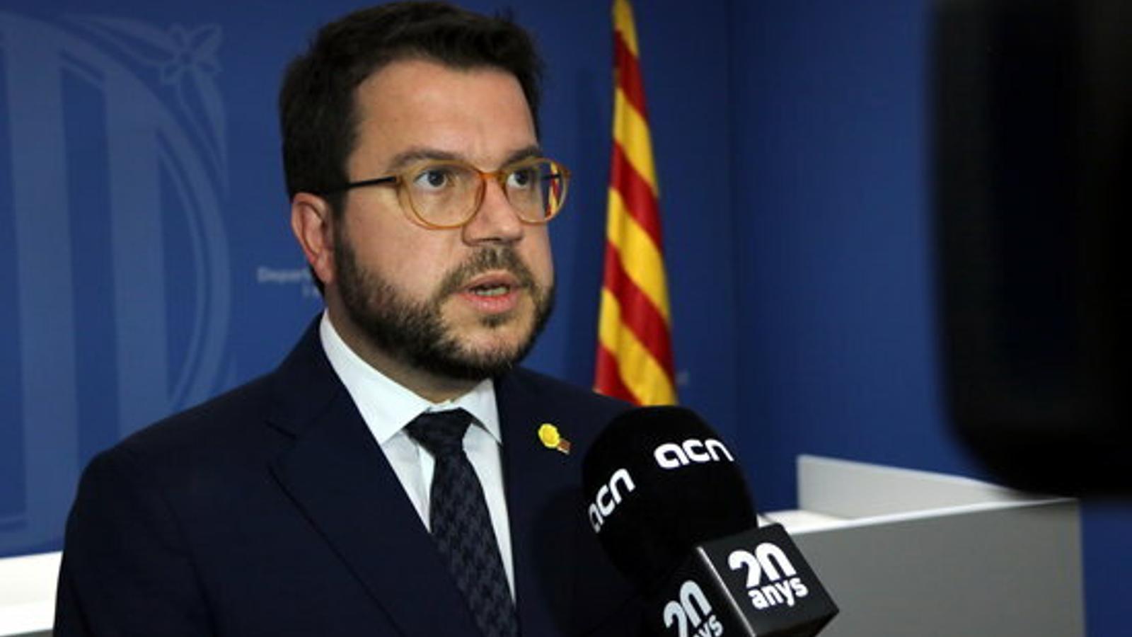 Aragonès admet que hi poden haver eleccions si no hi ha nous pressupostos