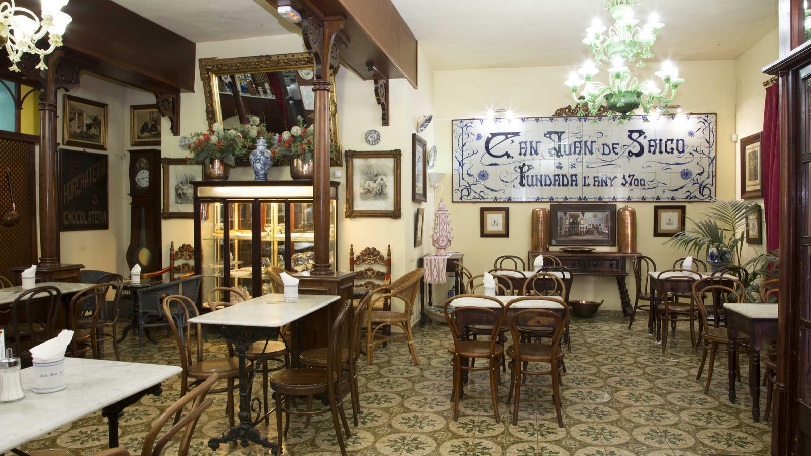 Imatge de l'interior d'uns dels locals de Ca'n Joan de S'Aigo.