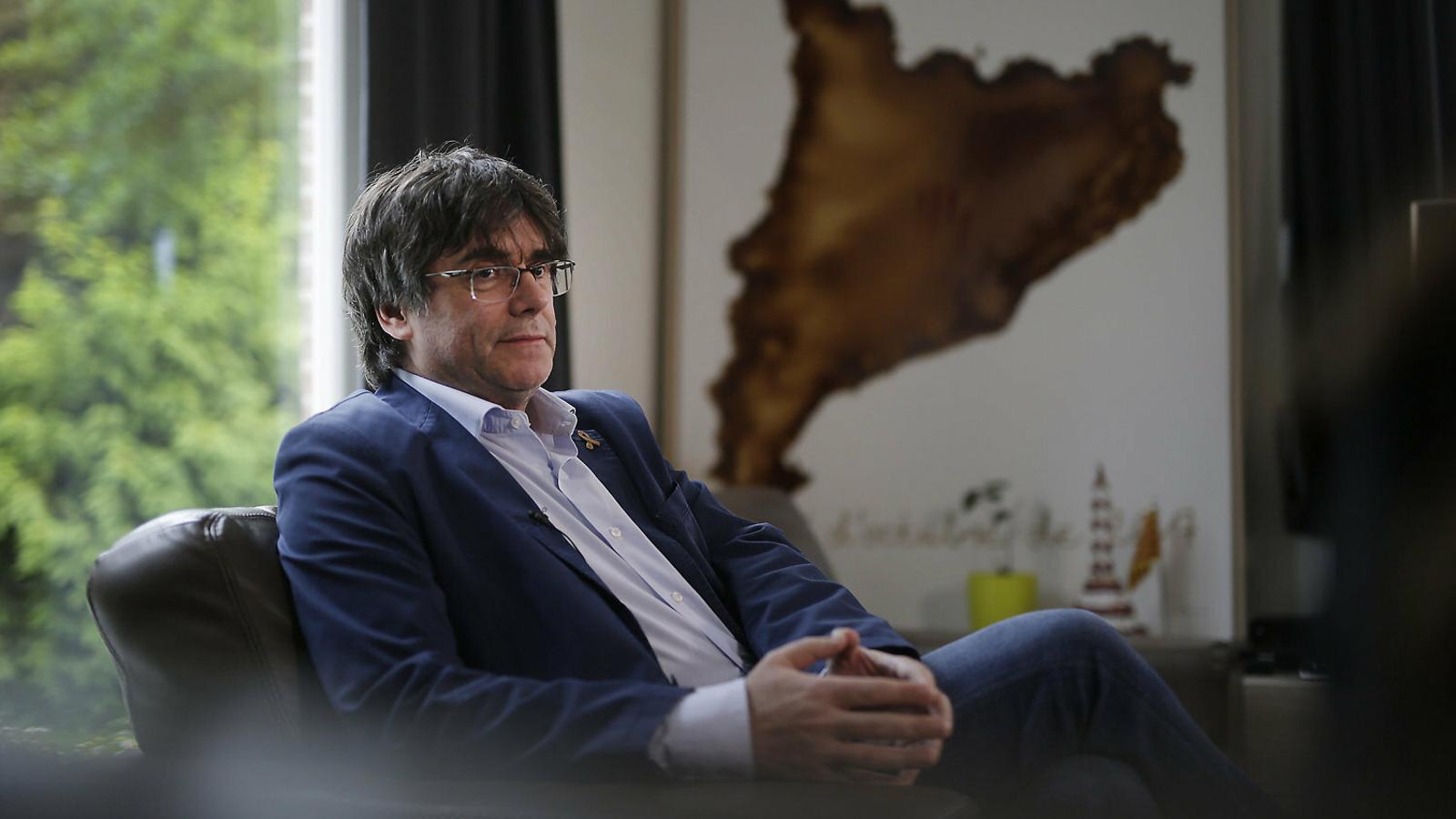 Carles Puigdemont va expressar dubtes sobre el pacte amb el PSC, però finalment el va acabar avalant.