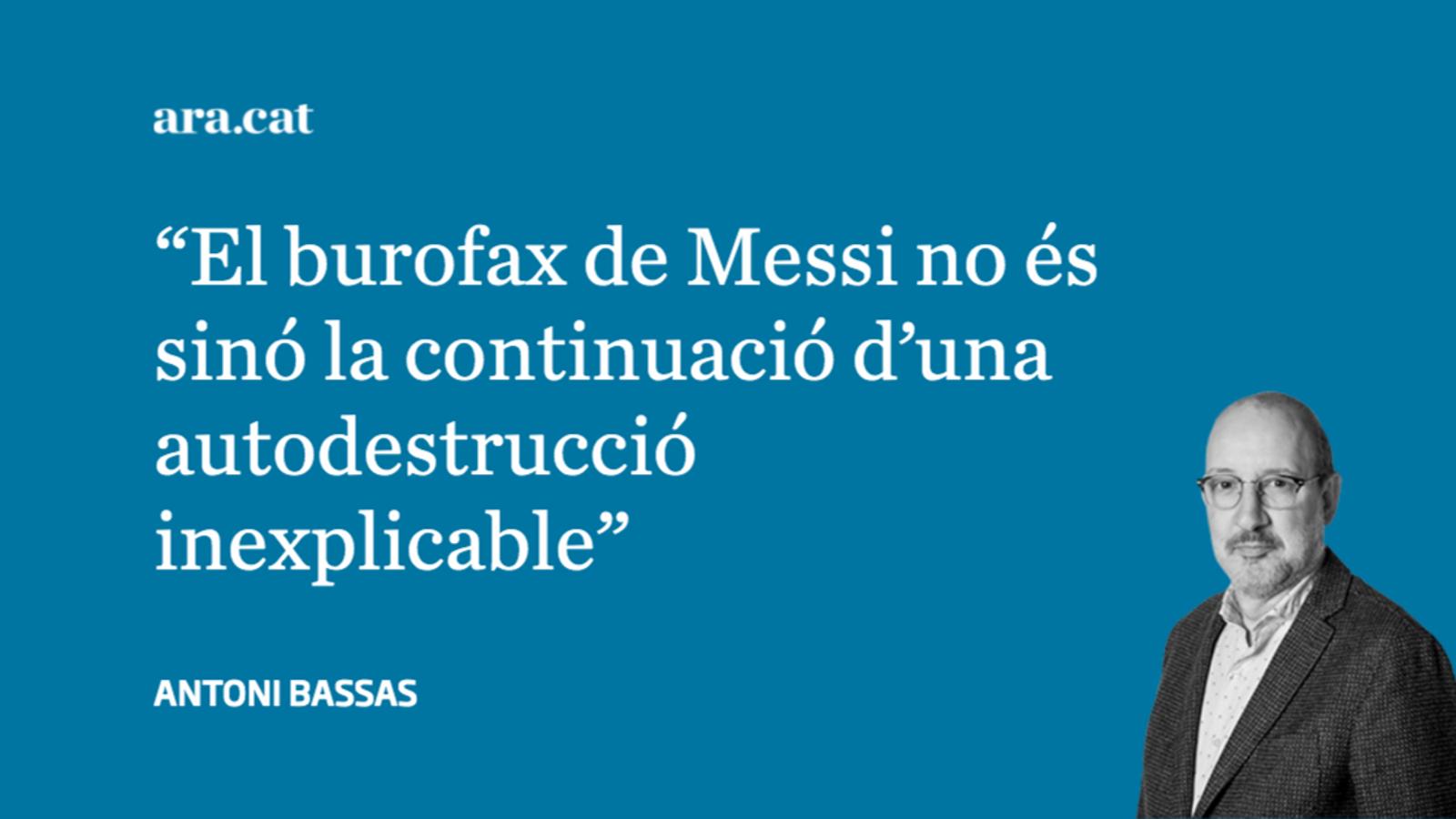 Del 2-8 al burofax de Messi, en una setmana i mitja