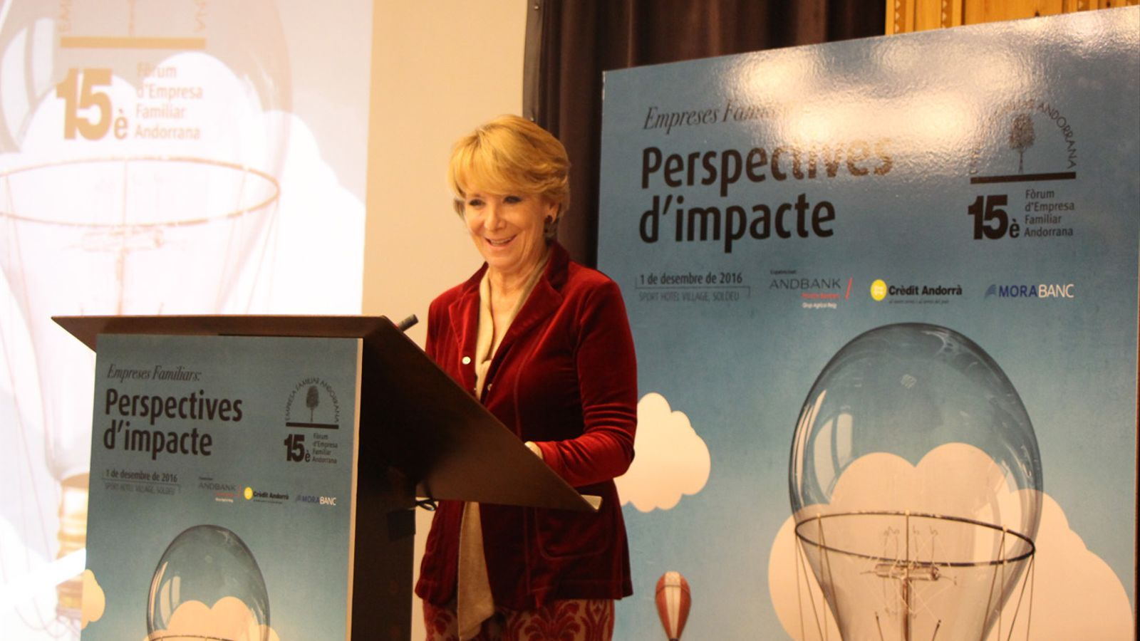 La portaveu del grup municipal del PP a Madrid, Esperanza Aguirre