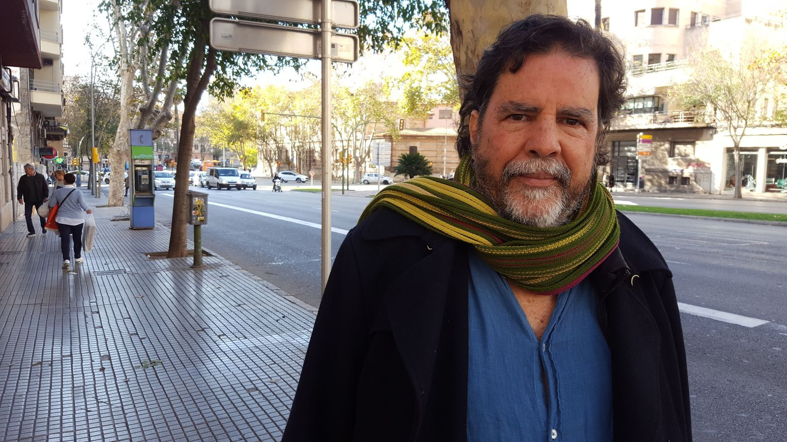 L'activista i sociòleg RamonGrosfoguel a les avingudes de Palma