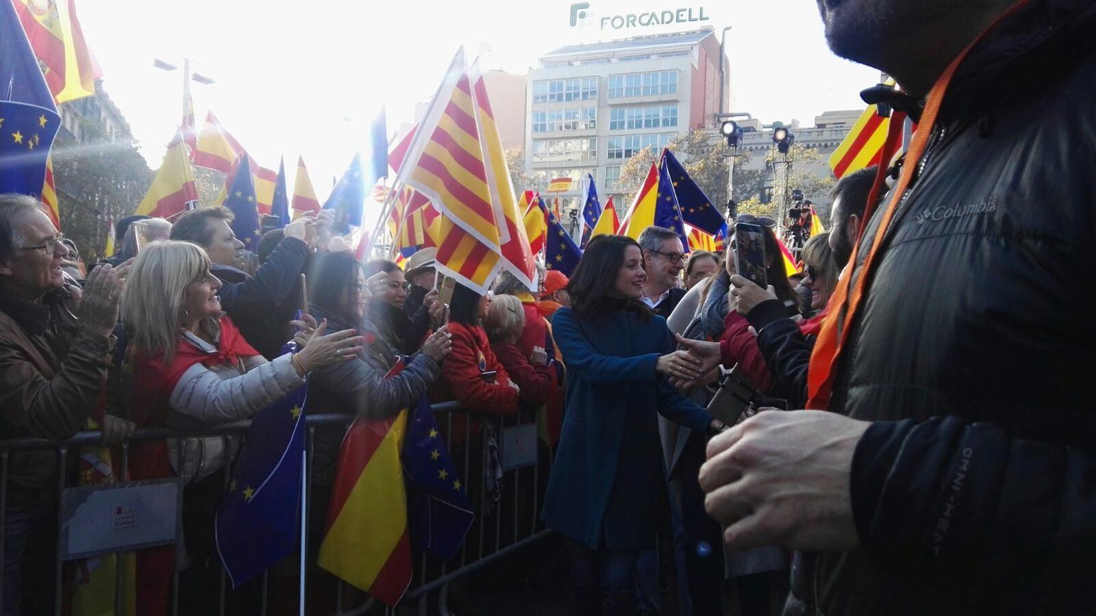 Arrimadas a l'acte de Cs per celebrar el 39è aniversari de la Constitució