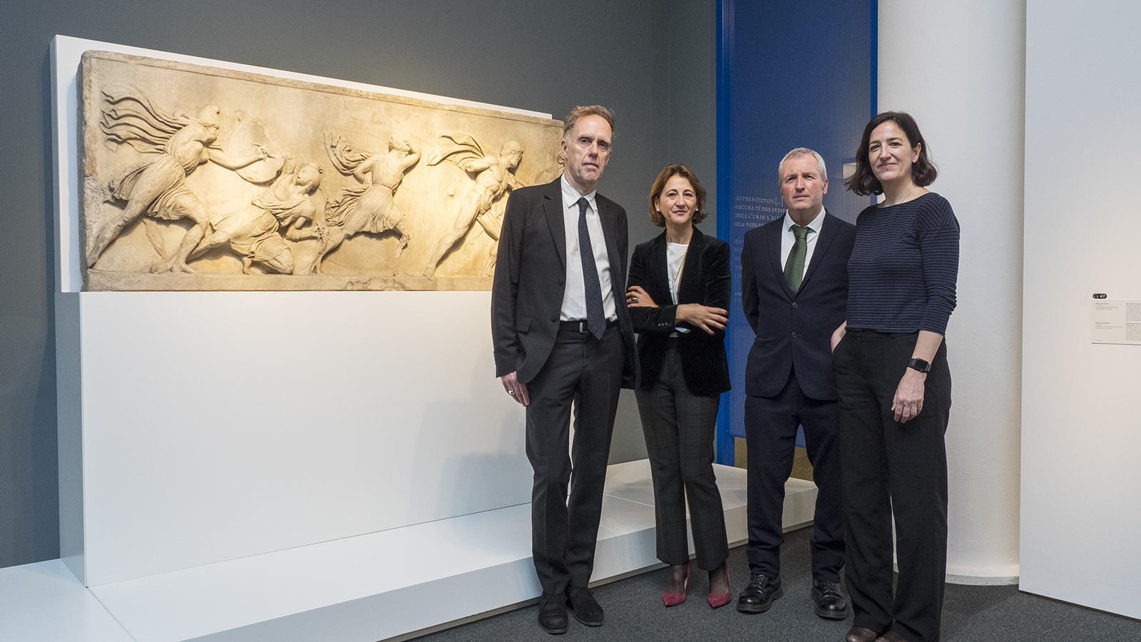 Philip Attwood, Margarita Pérez Villegas, Peter Higgs i Isabel Salgado