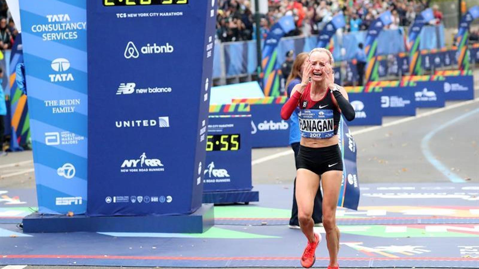 Shalane Flanagan, guanyadora de la Marató de Nova York