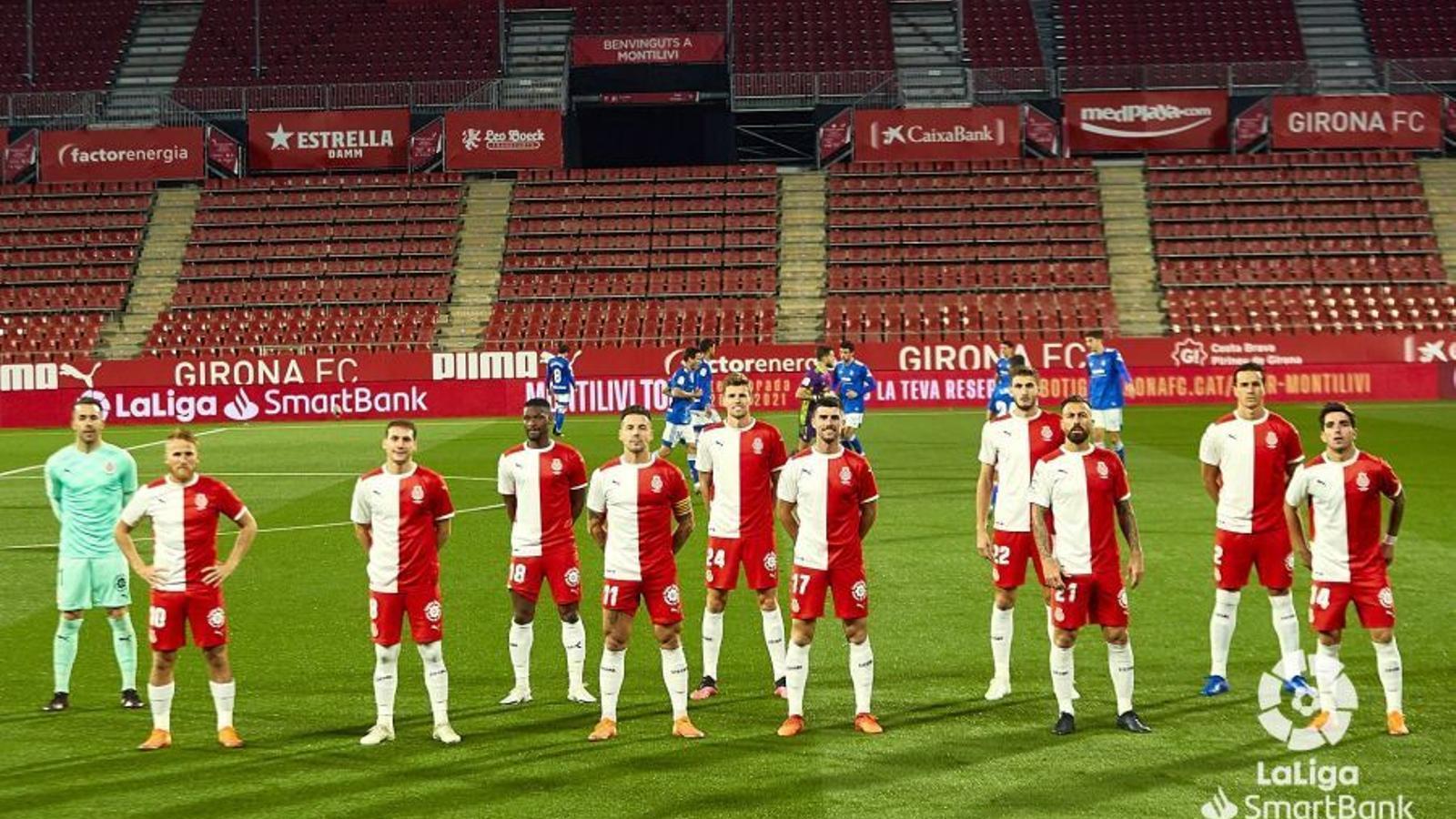 L'11 del Girona contra l'Oviedo
