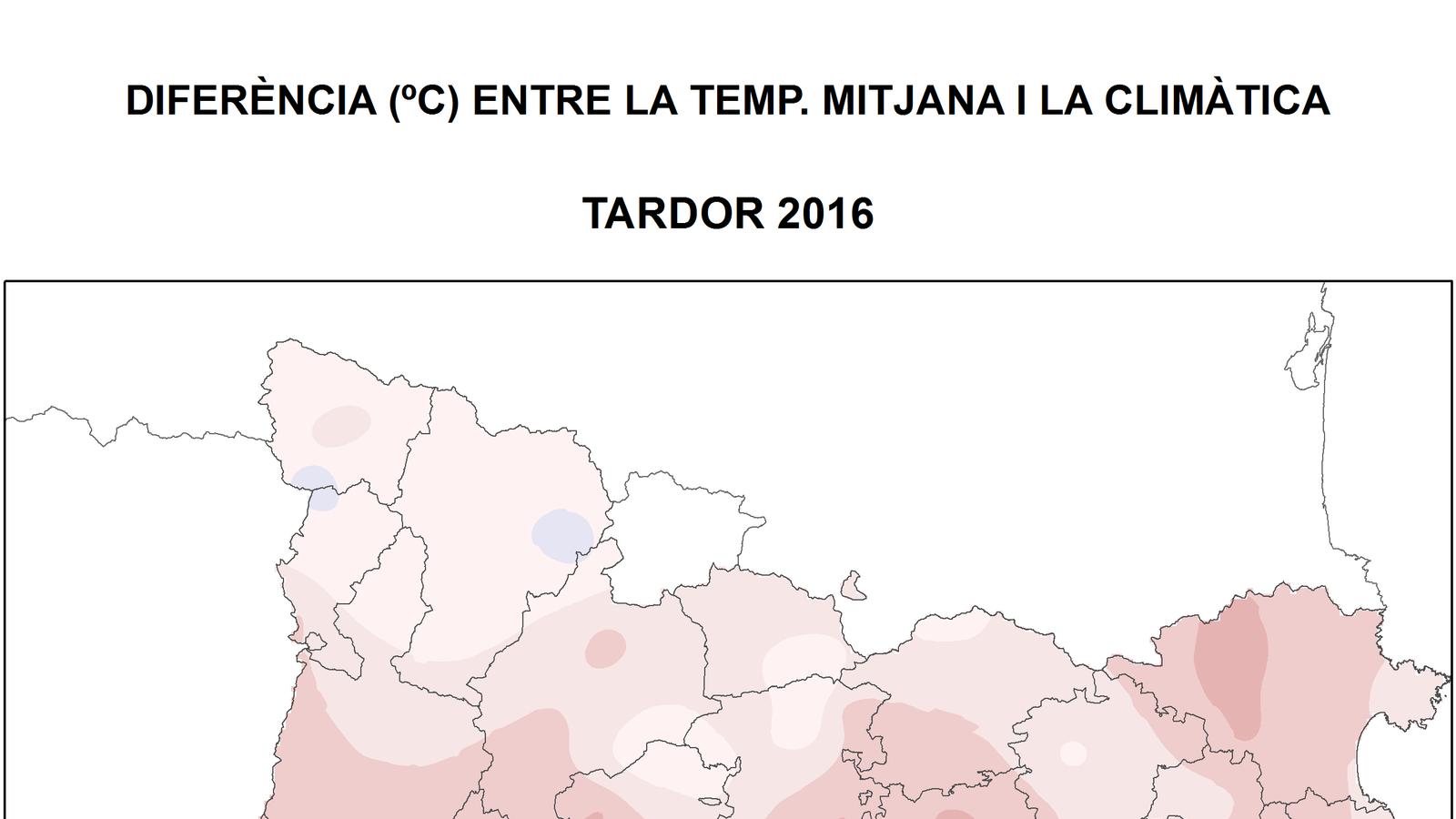 La tardor ha estat càlida i irregular en les precipitacions a Catalunya
