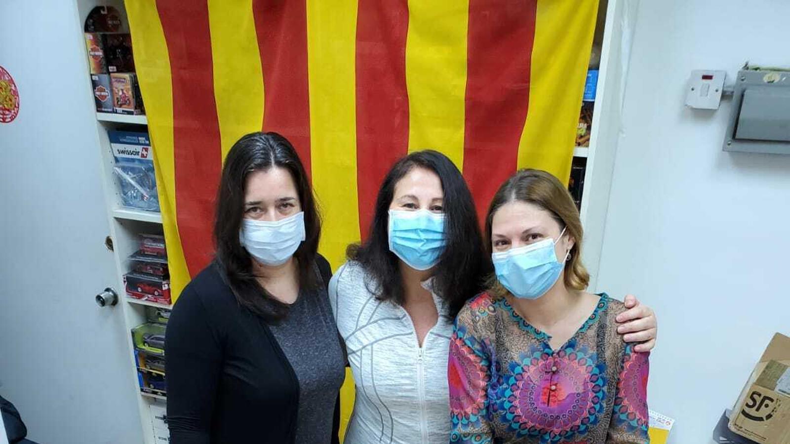 Catalanes residents a Hong Kong que han organitzat la donació.