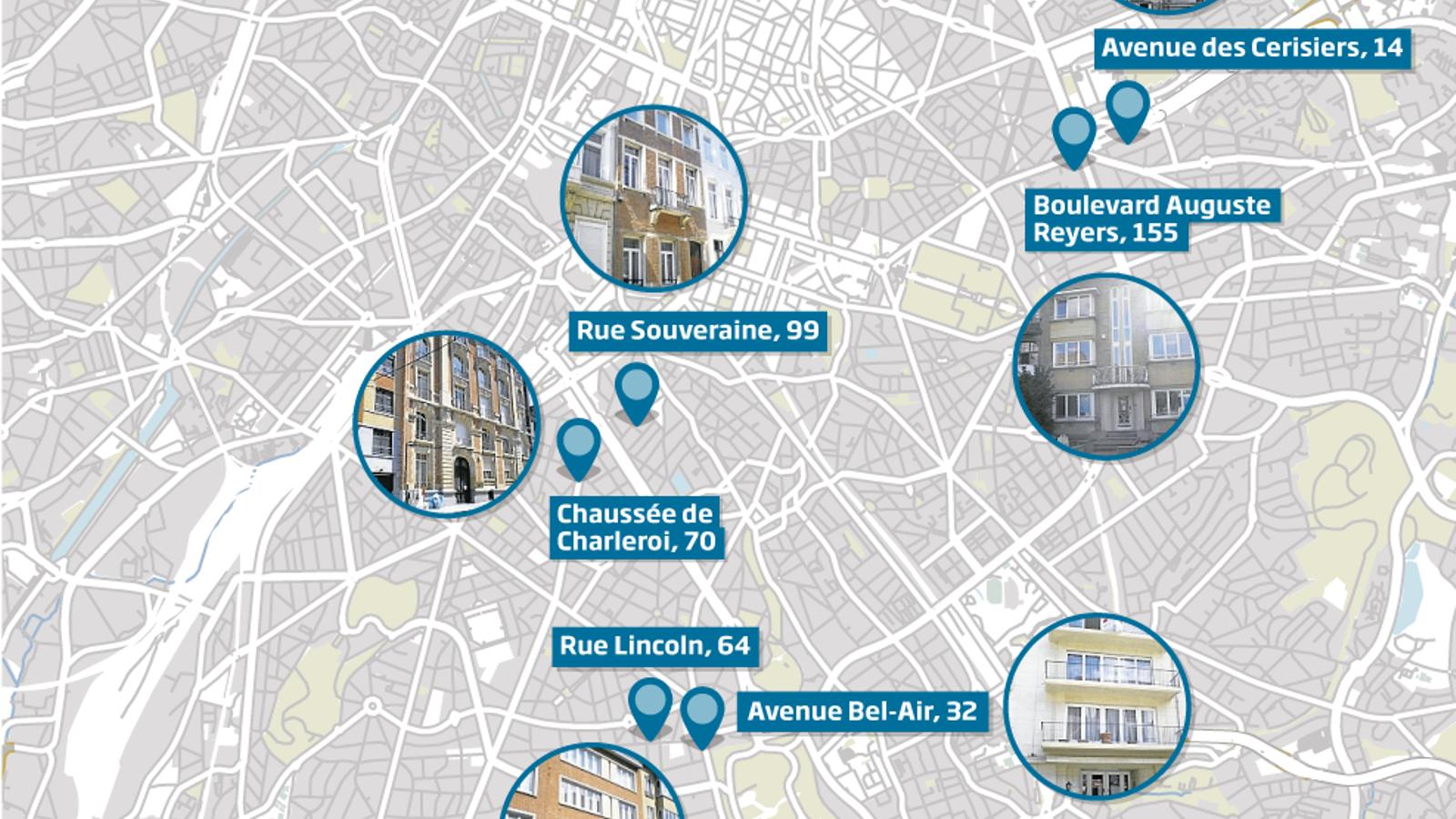 Infografía dels llocs on va viure Carner