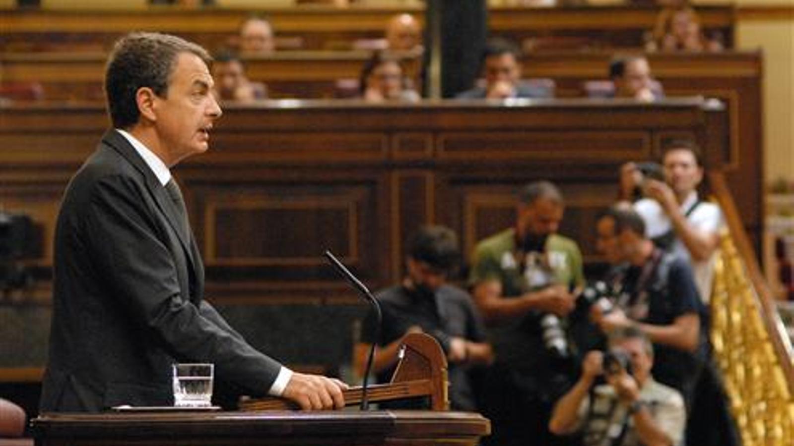 Zapatero, al Congrés, en una imatge d'arxiu