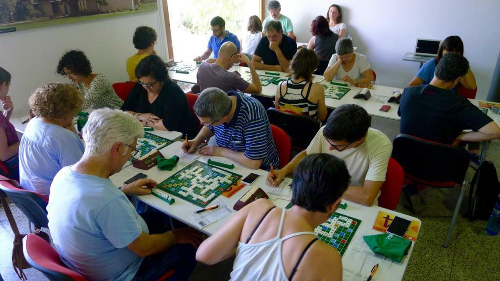 Campionat d'Scrabble a Manacor, el juny de 2017.