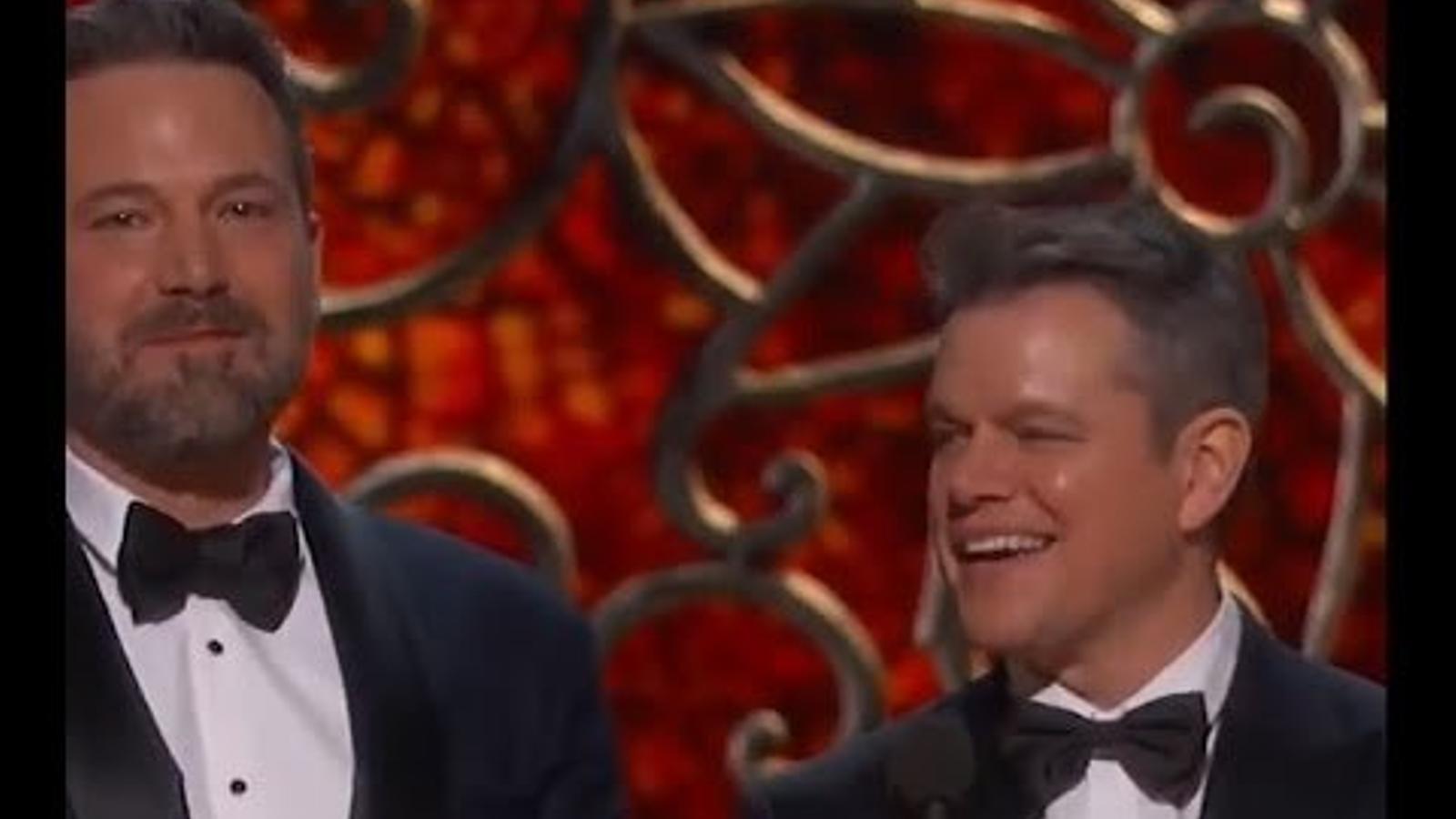 Kimmel es mofa de Matt Damon