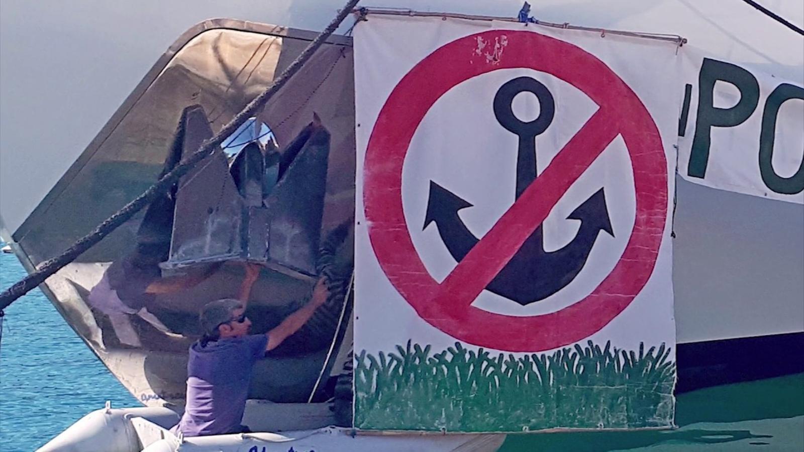 Salvem Portocolom denuncia amb un vídeo 'el destructor de la posidònia'