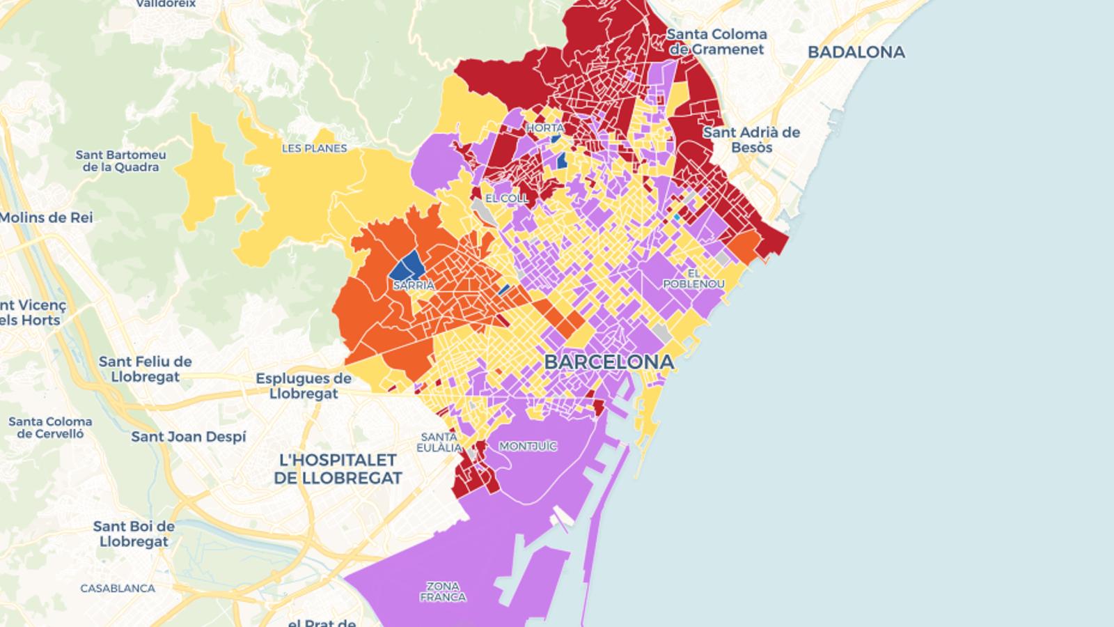 Mapa interactiu: les municipals a Barcelona, carrer a carrer