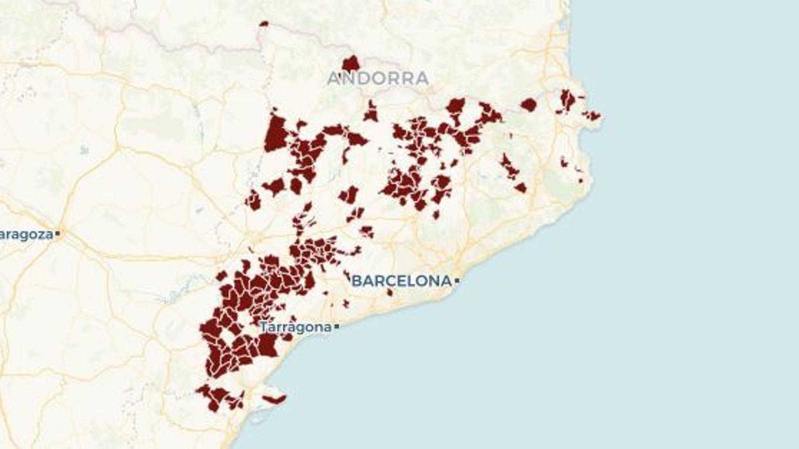 La Cataluña vacía: los 200 pueblos donde hay más pensionistas