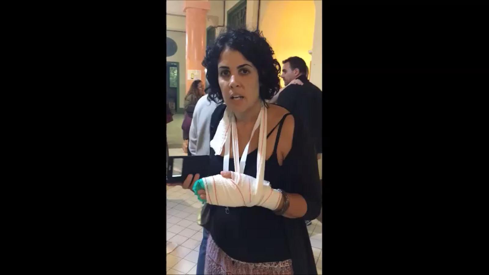 Marta Torrecillas explica què li ha fet la Policia