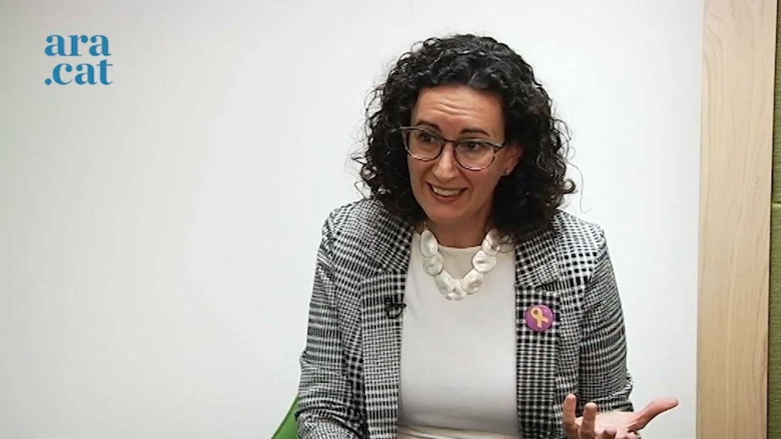"""Marta Rovira: """"No em convenç que generem el caos per després reclamar unitat i convocar unes eleccions"""""""
