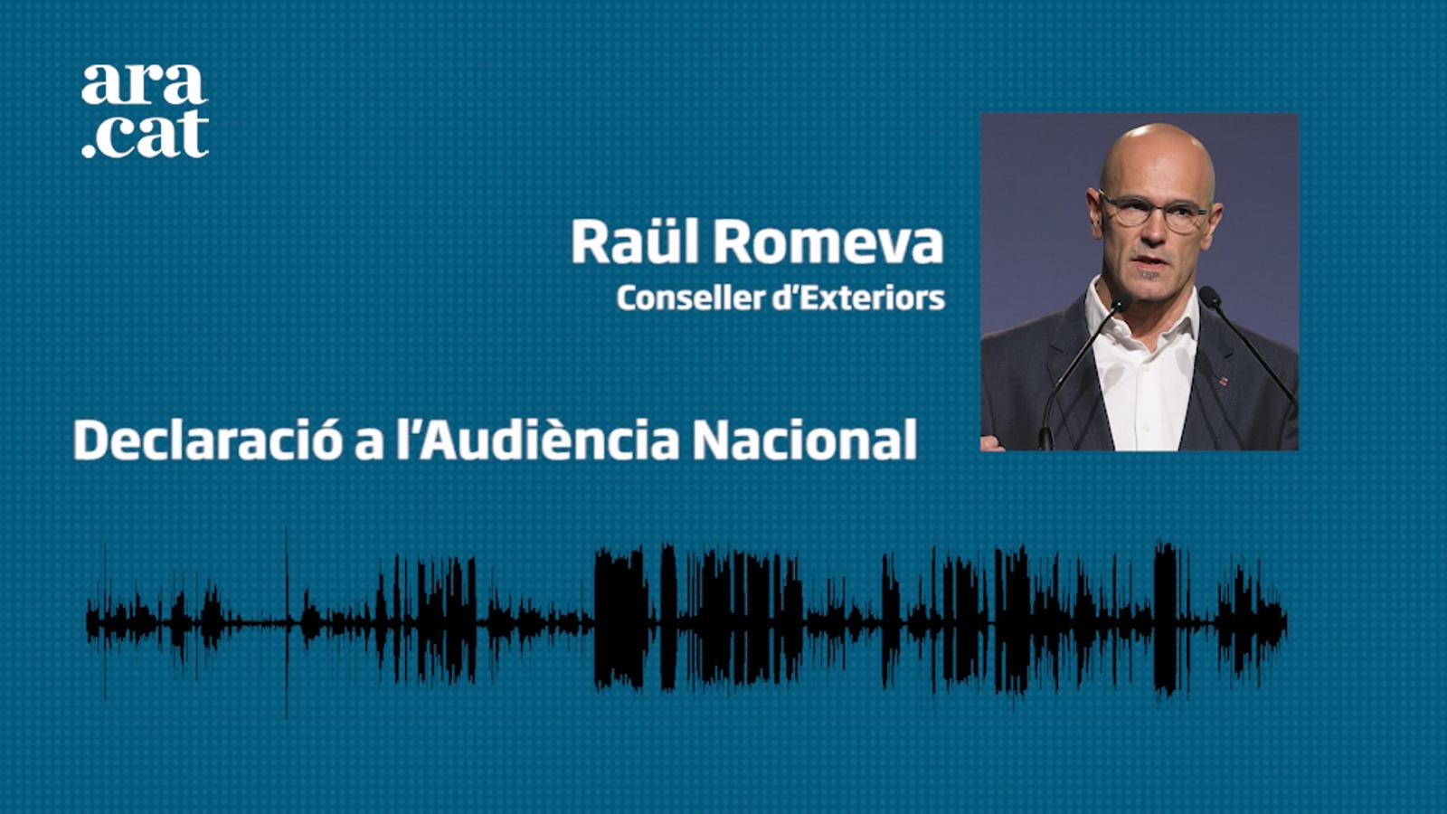 Raül Romeva declara a l'Audiència Nacional