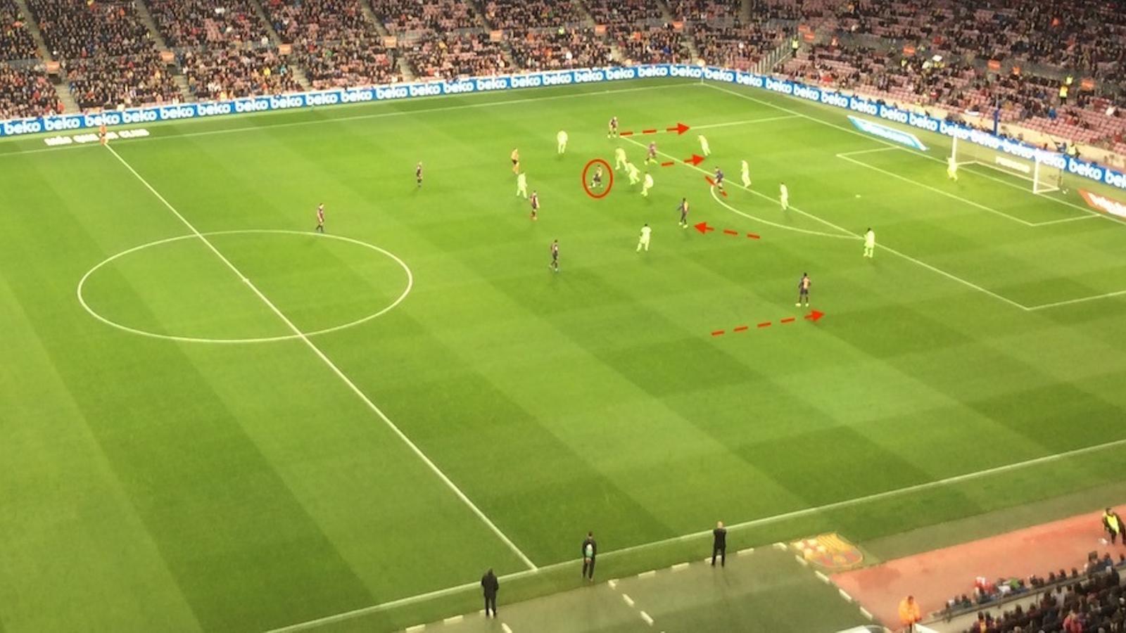 Fins a cinc jugadors es mouen per davant de Messi